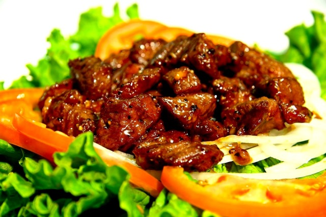 BEEF LOK LAK- I tried this in Cambodia