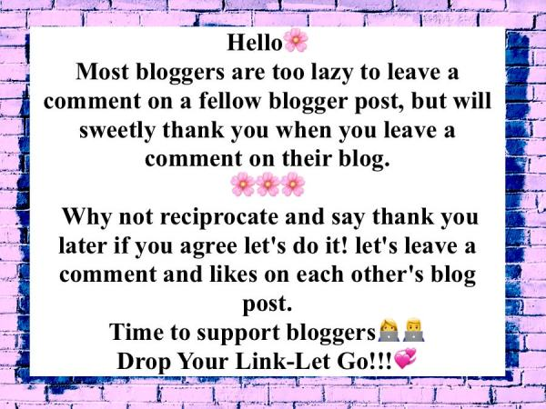 Bloggers Support Reciprocate Comment, share and like